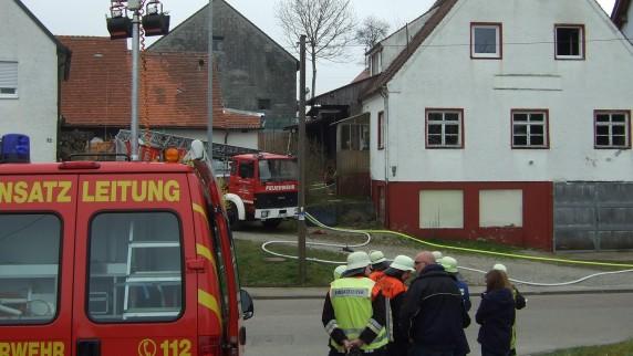 In einem leer stehenden Haus in Hafenhofen hat es gebrannt.