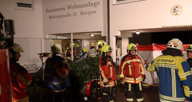 Zimmerbrand in Seniorenheim Burgau